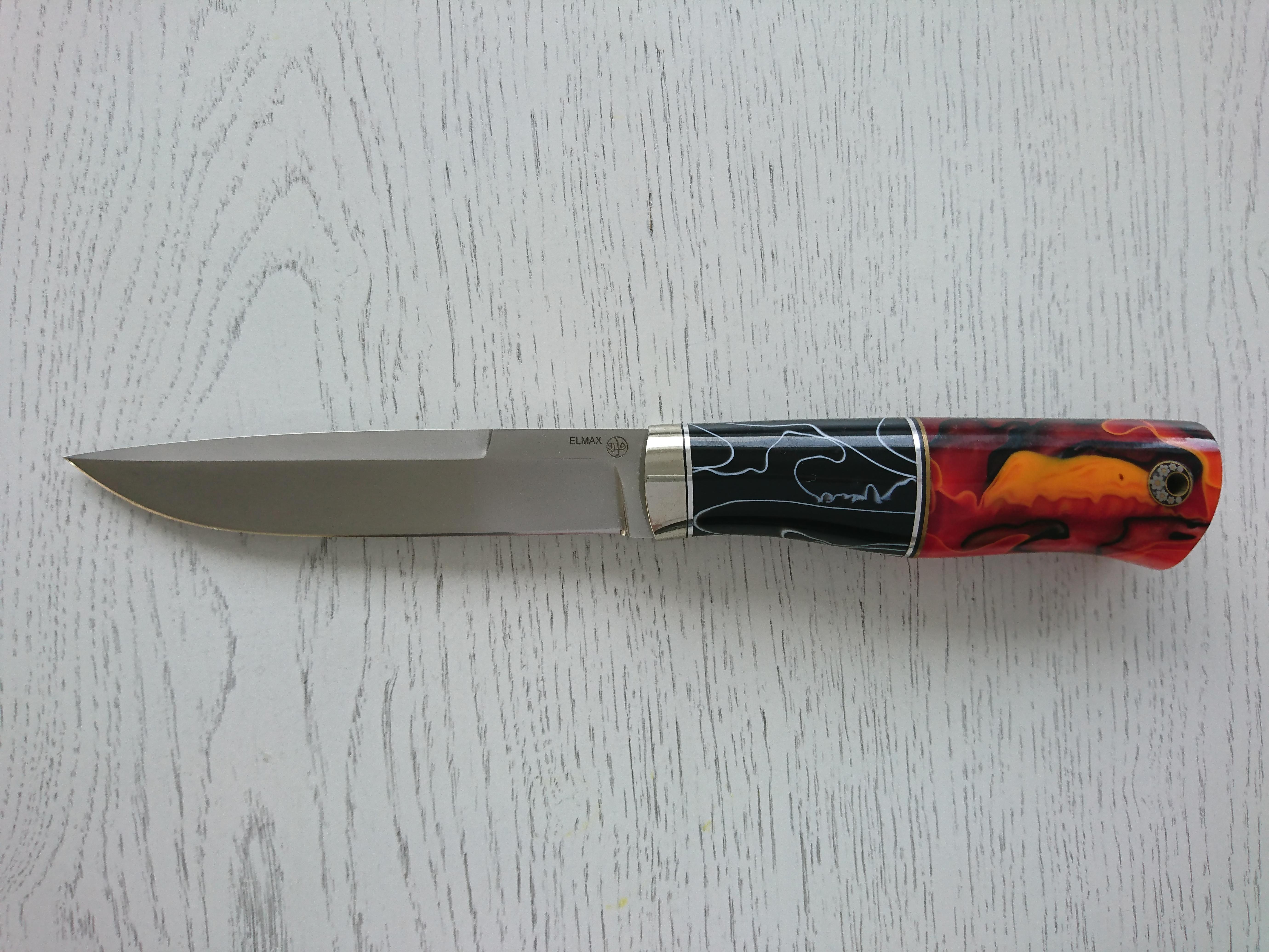 """Нож """"Охотник-1"""" (Elmax, акриловый композит)"""