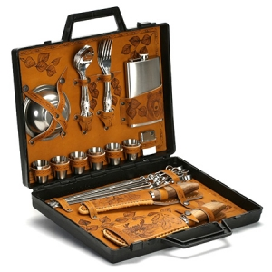 Подарочный набор для пикника в дипломате «Турист» (6 персон)