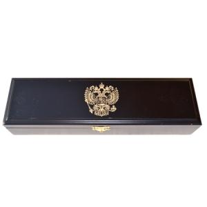 Шкатулка для ножа черная с гербом
