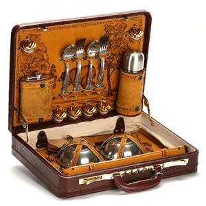 Набор посуды для пикника в дипломате № 10 (на 6 персон)