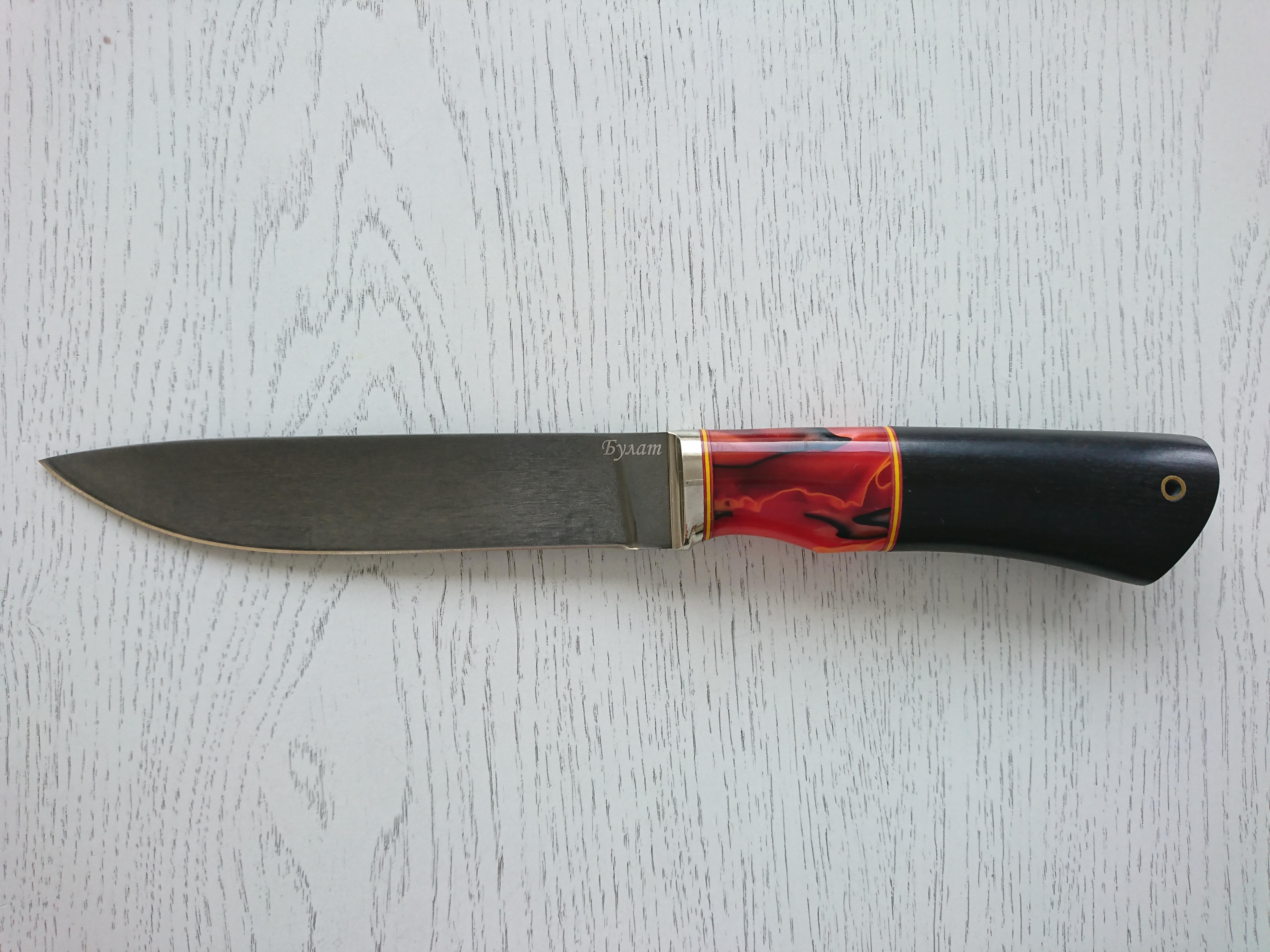 """Нож """"Лань"""" (Булат, граб и акриловый композит)"""