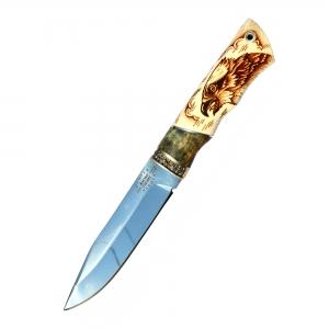 """Нож """"Ворон"""" (х12МФ, рог с рисунком)"""